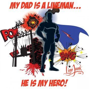 BOYS MY DAD IS MY HERO - white shirt