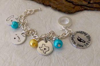 J2 State Charm Bracelet