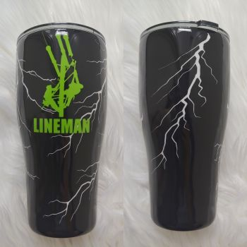 Lineman Glow In Dark Tumbler