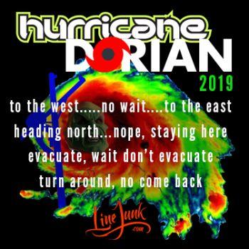 Hurricane Dorian Sticker