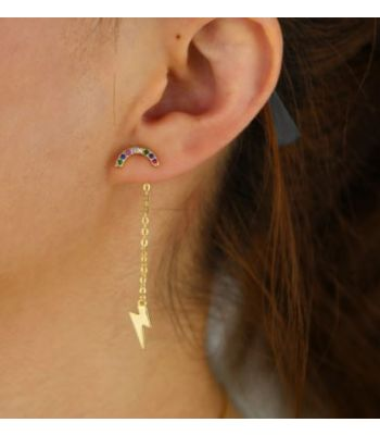 Lightning Bolt Dangle Earring