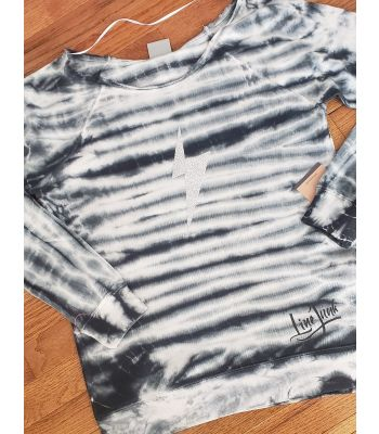 Bolt Glitter Lineman Girl Tie Dye