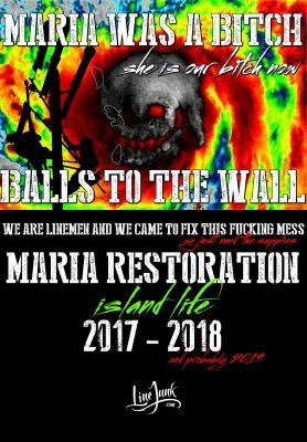 Hurricane Maria Storm Shirt Lineman Island Life