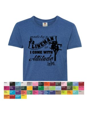 Made by a Lineman Youth Colors