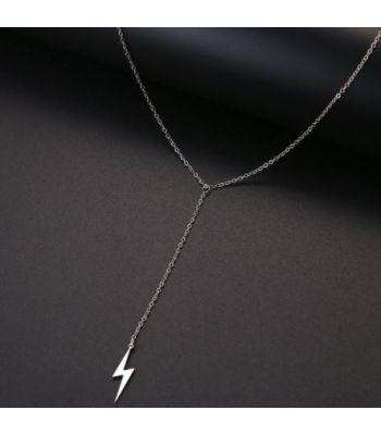 Lightning Bolt Dangle Necklace