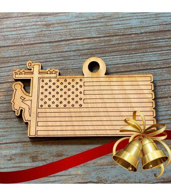 2020 Lineman Christmas Ornament