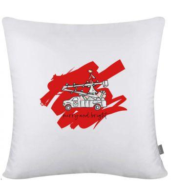 Lineman Christmas Throw Pillow