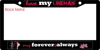 MC09 Ladies lineman license frame