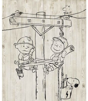 Snoopy Lineman canvas