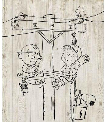 Snoopy Lineman canvas