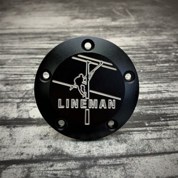 Motorcycle Point Cover harley Lineman
