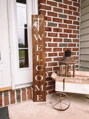 Lineman Home Welcome Sign